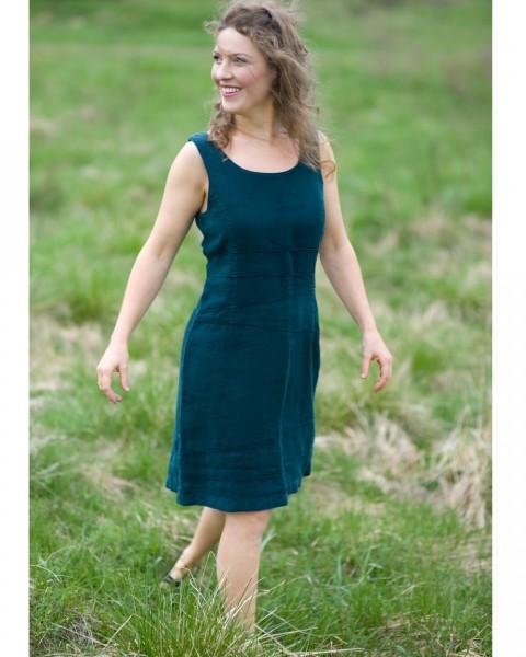 Damen Biesenkleid kurz, Luzifer, 100% Leinen, 2 Farben