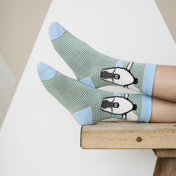 """Living Crafts, Kinder Socken """"Bear"""" 2er-Pack, 98% Baumwolle (kbA), 2% Elasthan"""
