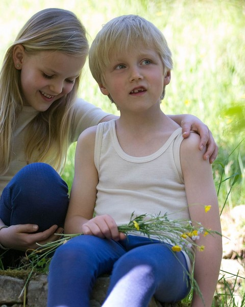 Kinder Achselhemd, Engel Natur, 100% Wolle (kbT)