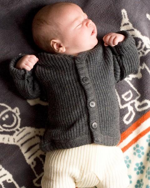 Baby Strickjacke, Joha, 100% Wolle