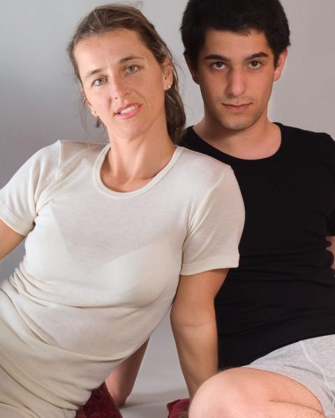 Unterhemd kurzarm für Damen und Herren, Engel Natur, 100% Wolle (kbT)
