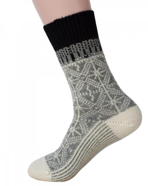 Hirsch Natur, Umschlag Socken, 100% Wolle (kbT)