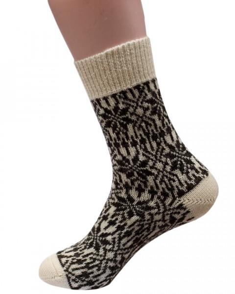 Stern Socken, Hirsch Natur, 100% Wolle (kbT), 4 Farben