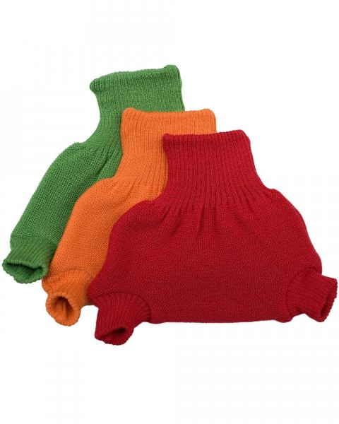 Ausverkauf: Windelhose doppelt gestrickt, Disana, 100% Wolle (kbT), 3 Farben