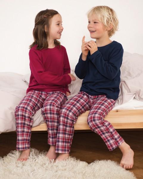LivingCrafts, Kinder Schlafanzug, 100% Baumwolle (kbA)