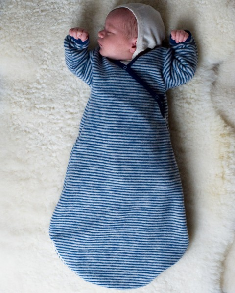 Lilano, Baby Wickelsack Flausch, 100 % Wollfrottee (kbT)