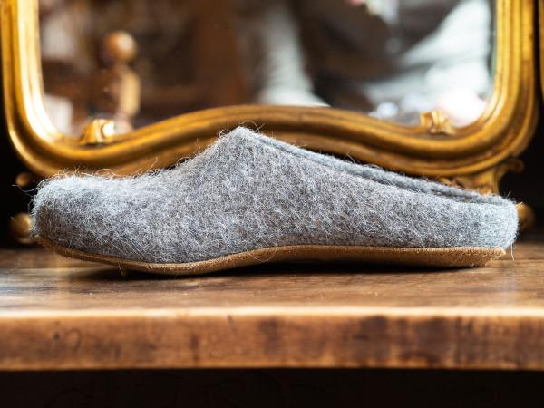 Magicfelt, Tiroler Steinschaf Schuhe mit Ledersohle