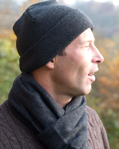 Herren Mütze glatt, Ganterie, Wolle Baumwollfutter, 4 Farben
