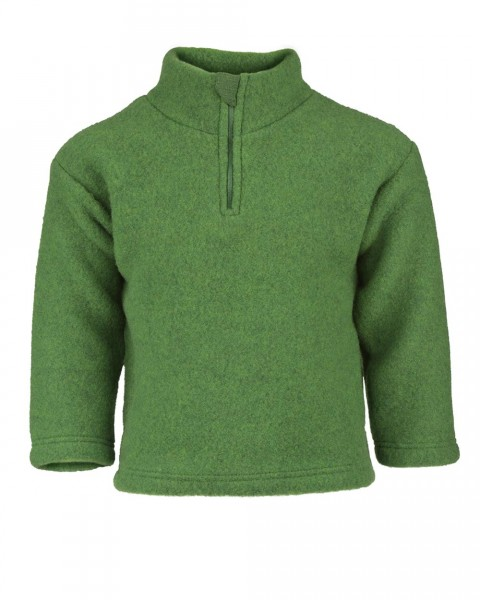 Engel Natur, Fleece Pullover mit Zipper, 100% Wolle (kbT)