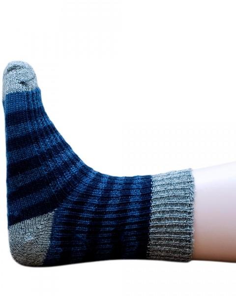Kinder und Baby Socken Streifen, 100% Wolle (kbT), Hirsch Natur