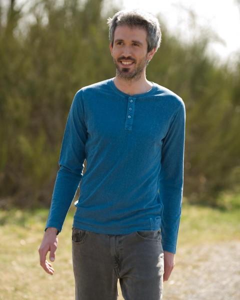 Herren Schlankes Shirt langarm, HempAge, Hanf Baumwolle, 4 Farben