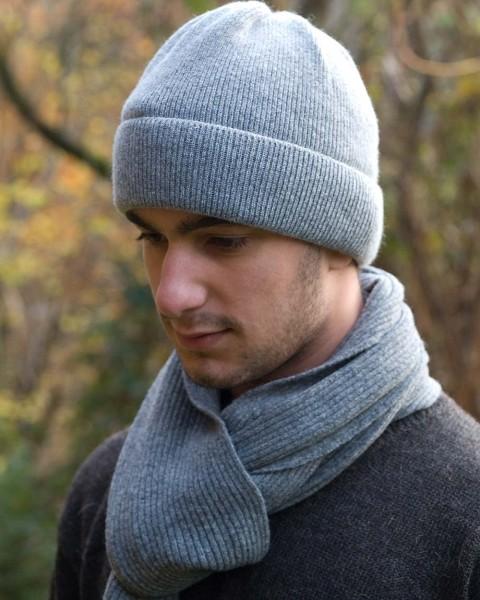 Herren Mütze, Ganterie, 100% Wolle, 5 Farben