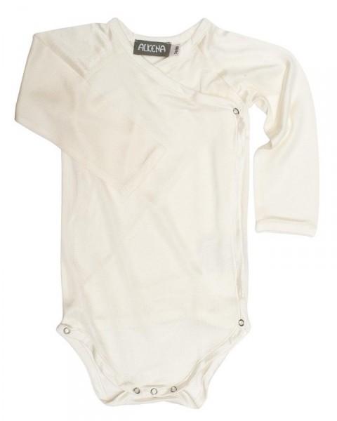 Baby Wickelbody langarm, Alkena, 100% Seide (kbT), 92 g/m²