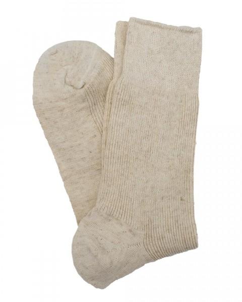 Socken, Hirsch Natur, Baumwolle & Leinen & Wolle