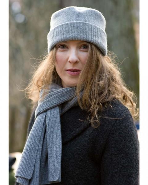 Damen Schal Feinripp, Ganterie, 100% Wolle, 5 Farben