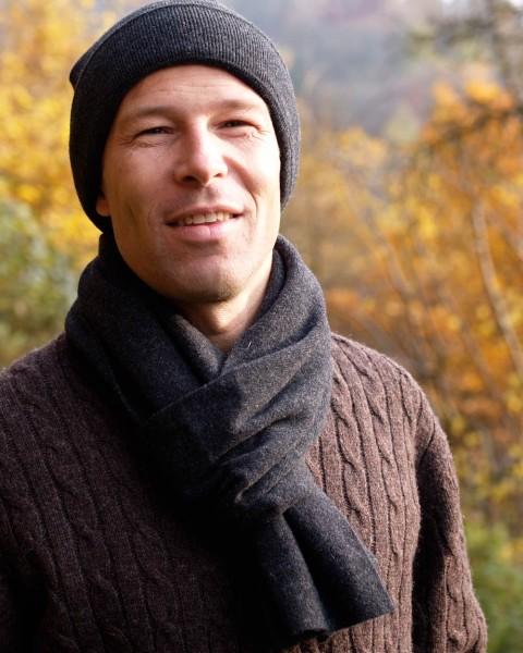 Herren Schal glatt, Ganterie, 100% Wolle, 5 Farben