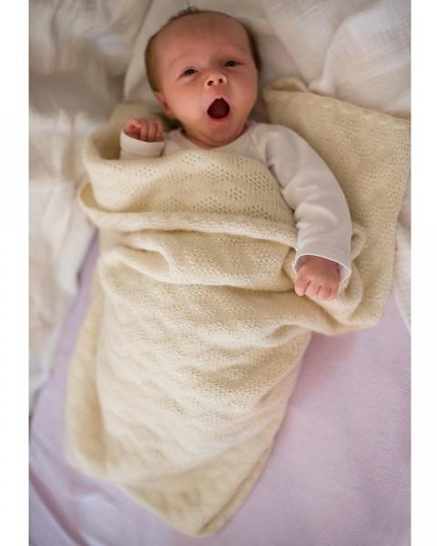 Babydecke, Disana, 100% Wolle (kbT), 4 Farben