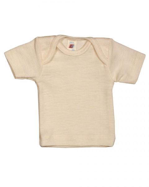 Baby Unterhemd kurzarm, Engel Natur, Wolle Seide