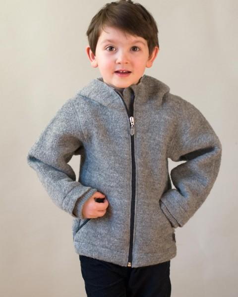 Kinder Walkjacke, 100% Wolle, Foster-Natur