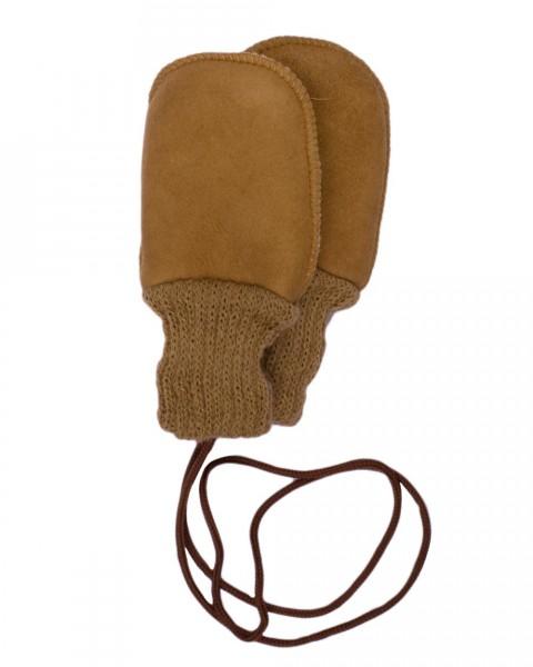 Ausverkauf: Baby Fellhandschuhe Fäustel ohne Daumen, 100% Echtfell, 2 Farben
