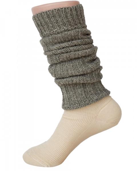 Hirsch Natur, Beinstulpen, 100% Wolle (kbT)