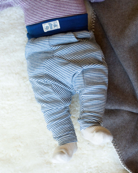Lilano, Warme Baby Jersey Hose, 70% Wolle (kbT), 30% Seide