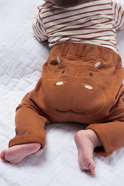 Baby Hose Nilpferd, 97% Baumwolle (kbA), 3% Elasthan