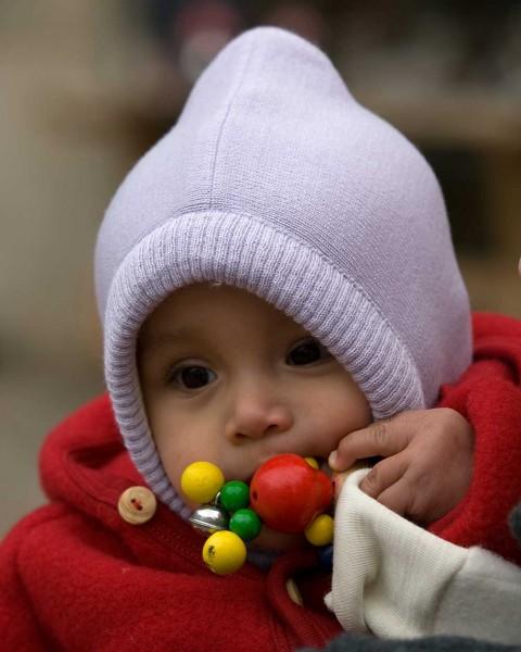 Baby Schalkragen Mütze, Ganterie, Wolle Baumwollfutter, 5 Farben