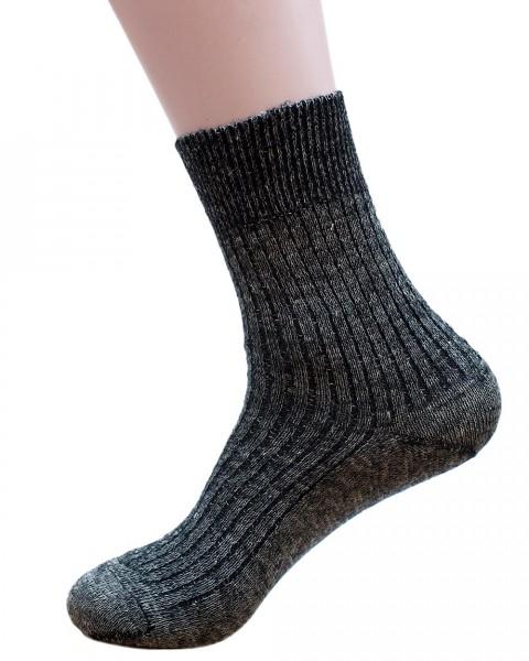 Sport Socken leicht, Wolle und Leinen, Hirsch Natur