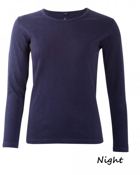 Damen Basic Shirt, HempAge, Hanf & Baumwolle, viele Farben