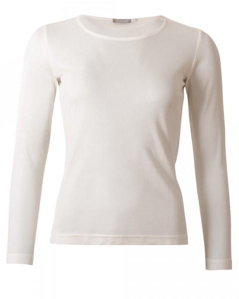 Unisex Langarm Shirt Rippe, Alkena, 100% Seide (kbT)