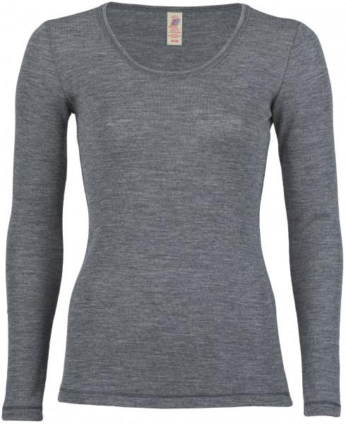 Damen Unterhemd langarm, Engel Natur, 100% Wolle (kbT)