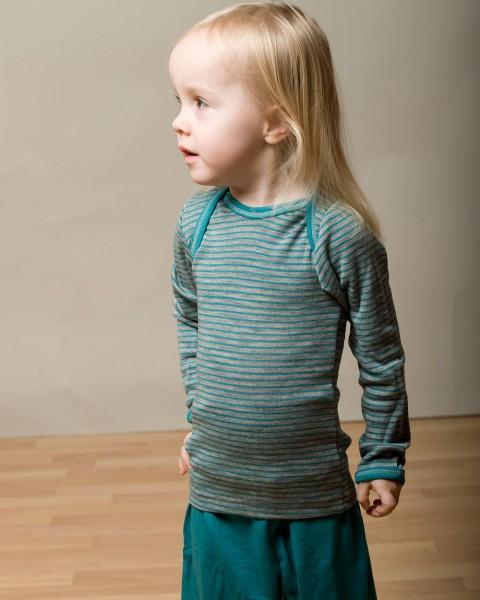 Baby Unterhemd langarm, Wolle und Seide, Engel Natur