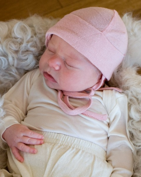 Alkena, Baby Mütze / Häubchen, 100% Bourretteseide