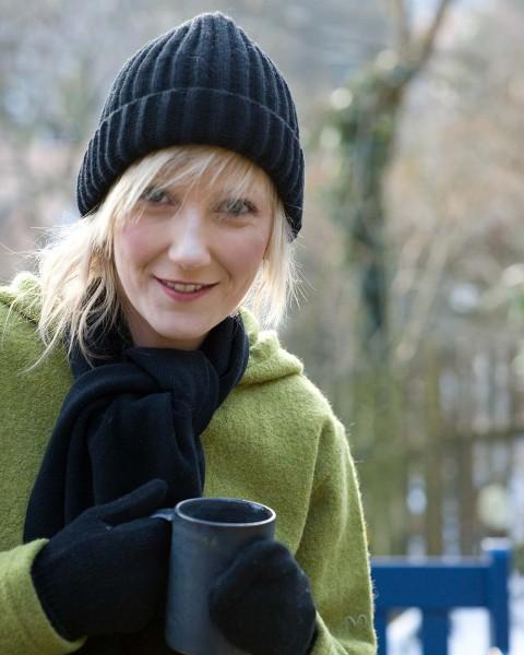 Damen Mütze Dickripp, Ganterie, 100% Wolle, 5 Farben