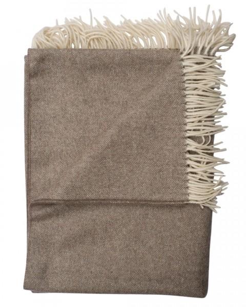 Steinbeck, Decke Teltow mit Fransen, 100% Wolle, 600 Gramm