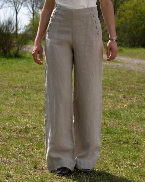 """Damen Hose """"Anna"""", Luzifer, 100% Leinen, 2 Farben"""