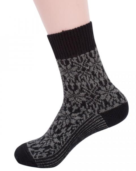 Stern Socken, Hirsch Natur, 100% Wolle (kbT), 7 Farben