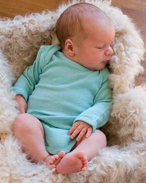 Alkena Baby Body langarm rippe, 100% Bourretteseide