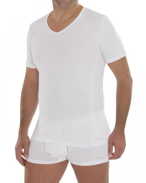 Comazo, Herren V-Shirt Rippe, 92% Baumwolle, 8% Elasthan