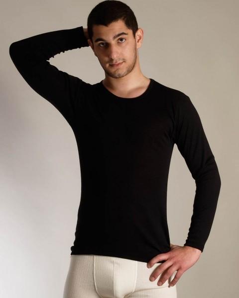 Living Crafts, Herren Unterhemd langarm, 100% Baumwolle (kbA), 2 Farben