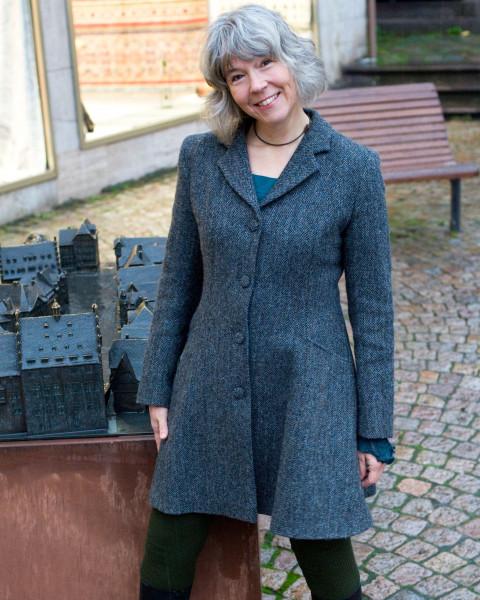 Damen Harris Tweed Mantel