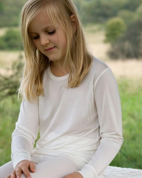 Kinder Unterhemd langarm, Alkena, 100% Seide (kbT)