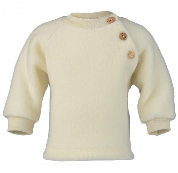 Baby Raglan Pullover Fleece, Engel Natur, 100% Wolle (kbT)