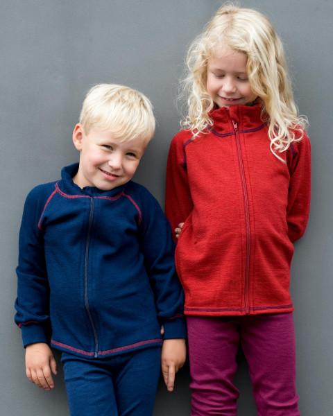 Engel Natur, Kinder-Jacke mit Reißverschluß, 100% Wolle (kbT), 2 Farben